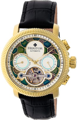 Heritor Automatic Aura Watch - Goldtone/Silver