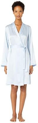 La Perla Silk Short Robe (Azure) Women's Robe