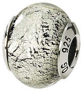 Murano Prerogatives Sterling Black/Silver Italian Glass Bead