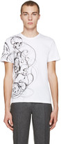Alexander McQueen White Skulls & Lines T-Shirt