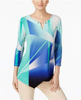 JM Collection Petite Geo-Print Tunic, Only at Macy's