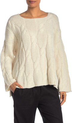 Jarbo Crew Neck Cable Knit Sweater