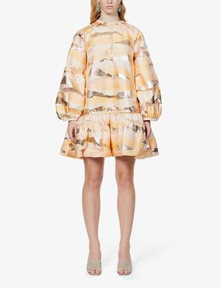 Stine Goya Josefine abstract-pattern woven mini dress