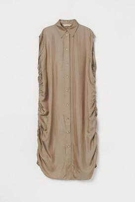 H&M Silk-blend shirt dress