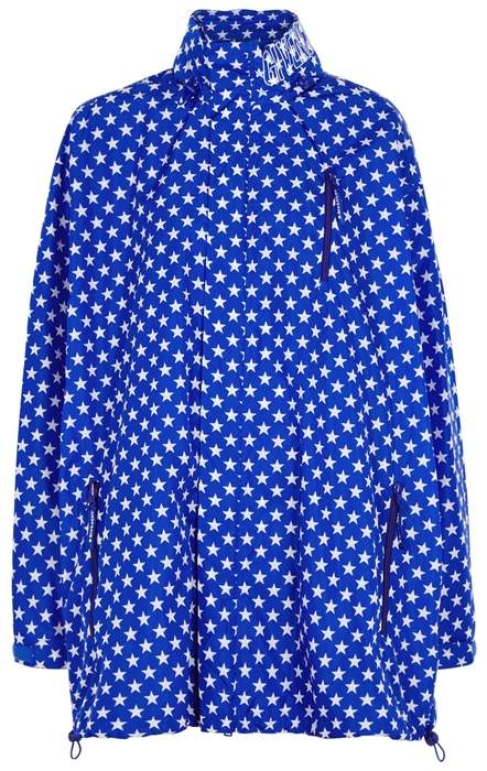 Givenchy Cobalt Star-print Shell Jacket