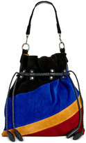 Patricia Nash Suede Colorblock Cafarelli Drawstring Bag
