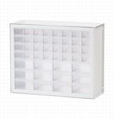 Dexter Dotted LineTM 44 Drawer Parts Cabinet Dotted Line Color: White