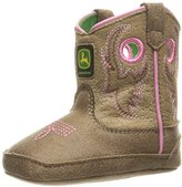 John Deere Bab Light Brn W/Pink Stitch PO Pull-On Boot
