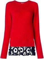 Comme des Garcons contrast trim sweater