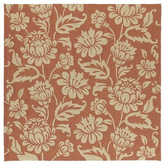 """Glenn Charlton Home Floral Hand-Tufted Red Indoor/Outdoor Area Rug Charlton Home Rug Size: Runner 2'6"""" x 8'"""