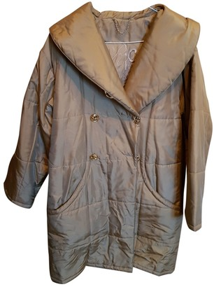 Nina Ricci Gold Silk Leather Jacket for Women Vintage