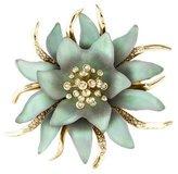 Alexis Bittar Vert D'Eau Lucite & Crystal Large Flower Pin