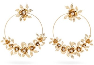 Rosantica Lirica Crystal-embellished Hoop Earrings - Gold
