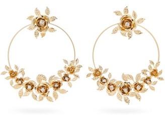 Rosantica Lirica Crystal-embellished Hoop Earrings - Womens - Gold