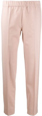 D-Exterior Embellished Trim Pull-On Trousers