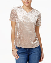 Material Girl Velvet V-Neck T-Shirt, Only at Macy's