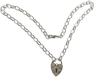 Large Heart Padlock On Adjustable Chunky Chain Necklace
