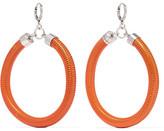 Isabel Marant Enameled Silver-tone Earrings - Orange