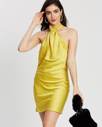 Topshop Satin Halter Dress
