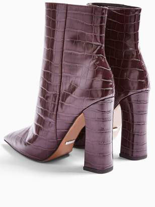 Topshop Harri Point Toe High Heel Boots - Burgundy