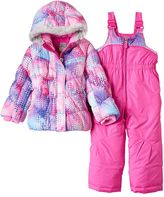 ZeroXposur Toddler Girl Heavyweight Dot Jacket & Bib Snow Pants Set