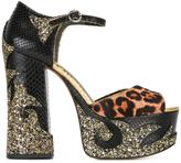 Marc Jacobs Adriana platform sandals - women - Leather/Calf Hair/PVC - 38