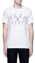 Denham Jeans 'WARP & WEFT' slogan print T-shirt