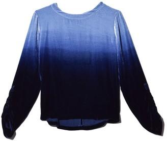 Raquel Allegra Velvet Tie Dye Jane Top in Sky Ombre Tie Dye