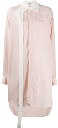 Loewe Oversized Contrasting-Strap Shirt