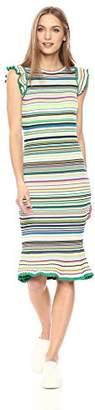Milly Women's Micro Stripe Mini Mermaid Dress