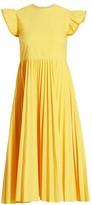 RED Valentino Pleated Poplin Dress