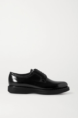 Church's Brandy Met Studded Glossed-leather Brogues - Black