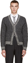 Thom Browne Grey Cable Knit Cardigan