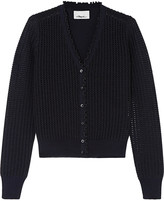 3.1 Phillip Lim Metallic pointelle-knit wool-blend cardigan