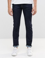 Le Breve Tappered Jeans In Indigo Rinse Wash