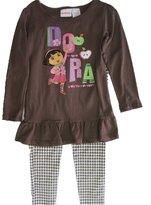 Disney Little Girls Dora the Explorer Houndstooth 2 Pc Pants Set