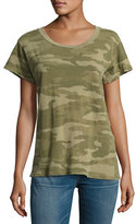 Current/Elliott The Crewneck Camouflage Tee, Green