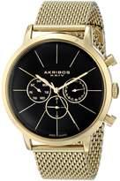 Akribos XXIV Men's AK714YG Analog Display Swiss Quartz Watch