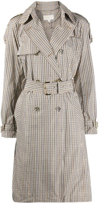 MICHAEL Michael Kors Check-Pattern Trench Coat
