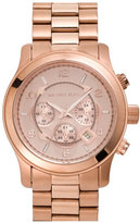 MICHAEL Michael Kors Michael Kors 'Large Runway' Rose Gold Plated Watch, 45Mm