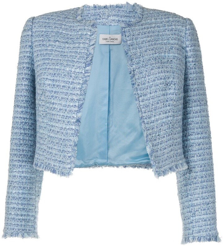 Isabel Sanchis Cropped Tweed Jacket