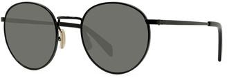 Celine Men's Round Metal Smoke Sunglasses