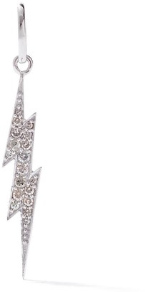 As 29 18kt white gold pave diamond mini Flash pendant