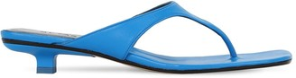 BY FAR 30MM JACK LEATHER THONG SANDALS