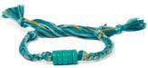 Aurelie Bidermann Braided Cotton Cord Shell Bracelet