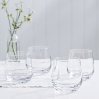 The White Company Belgravia Tumbler Set of 4, Clear, One Size