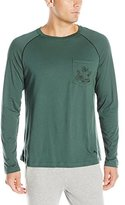 Tommy Bahama Men's Solid Cotton Modal Jersey Basic Long Sleeve T-Shirt