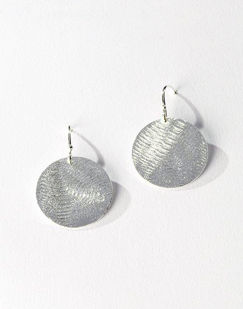 Silver brushed earrings