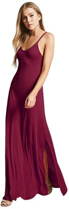 "Harrystore Dresses HARRYSTORE Women Long Solid Maxi Dress Solid V Neck Backless Sundress Strappy Summer Beach Cami T-Shirt Dresses (XXL(Bust:114cm/44.9"")"