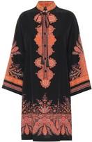 Etro Printed silk minidress